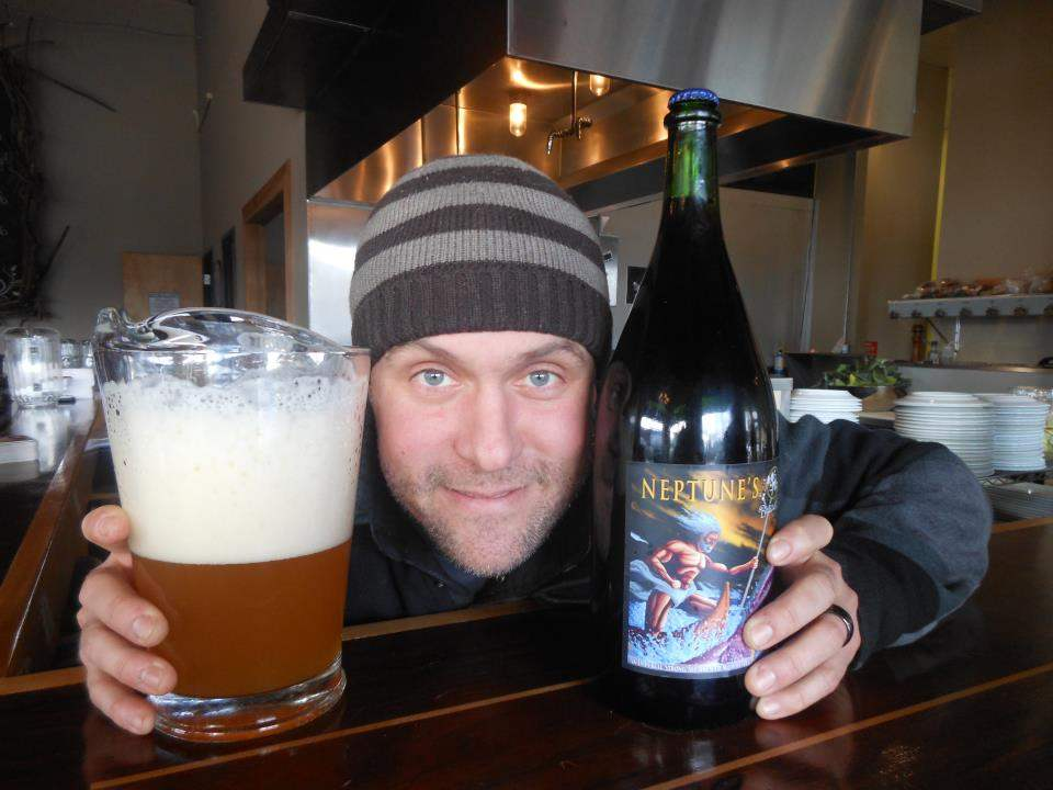 Jason McAdam with Neptune's Wrath (photo from Burnside Brewing Co.)