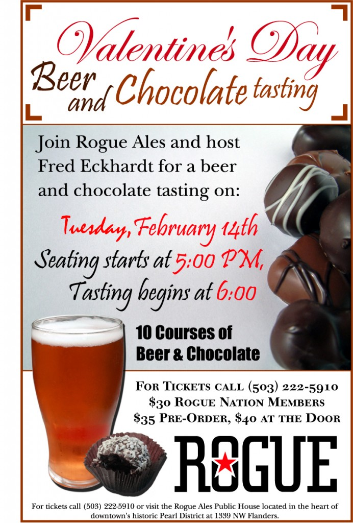 Rogue Valentine's Day Chocolate and Beer Pairing