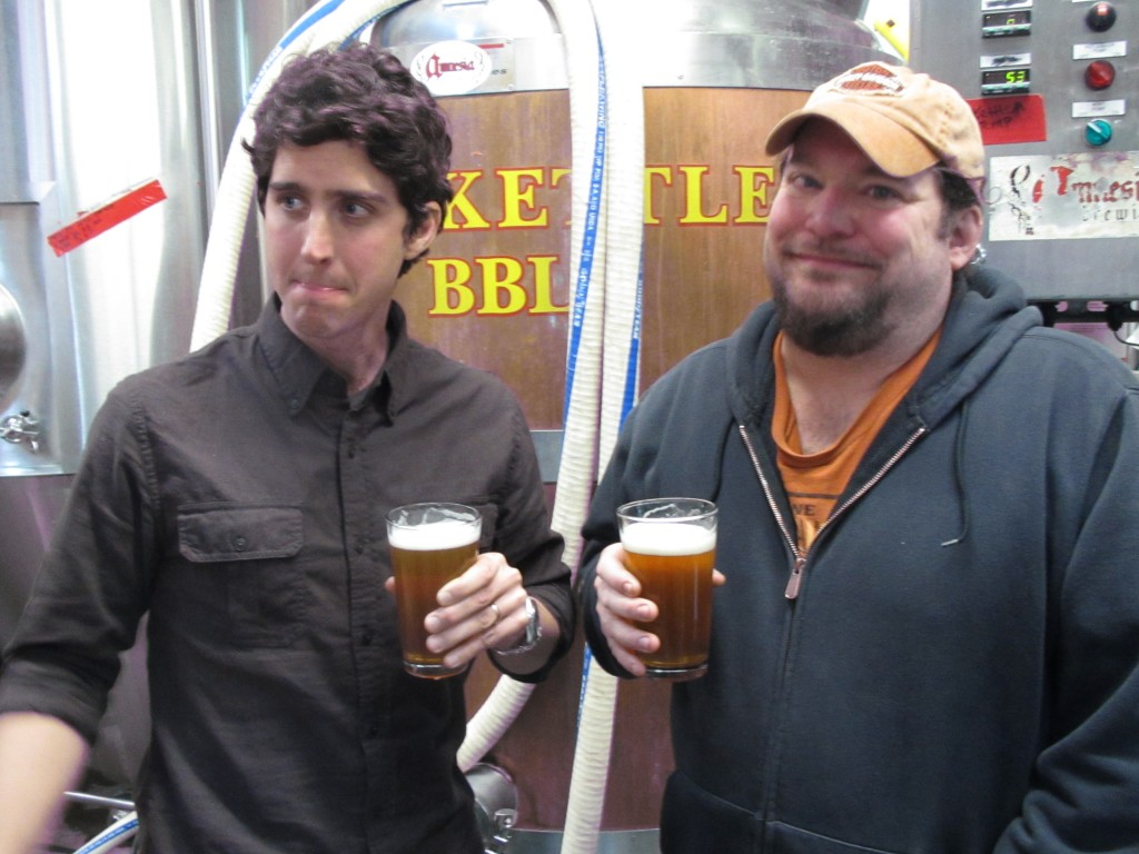 Adam Taylor (left) of Lone Wolf Development (left) and Kevin King of Amnesia Brewing