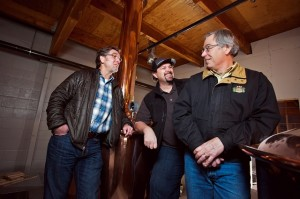 Crux Fermentation Project founders L to R: Paul Evers, Dave Wilson, and Larry Sidor (©2012 Photo by Brian J. Bulemore, ABACUS PHOTOGRAPHY)