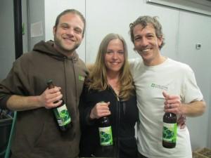 Coalition brew crew (L to R) Elan Walsky, Kiley Hoyt, Bruce MacPhee
