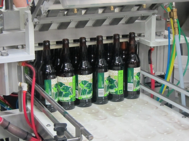 Coalition 2 Dogs IPA fresh off the bottler