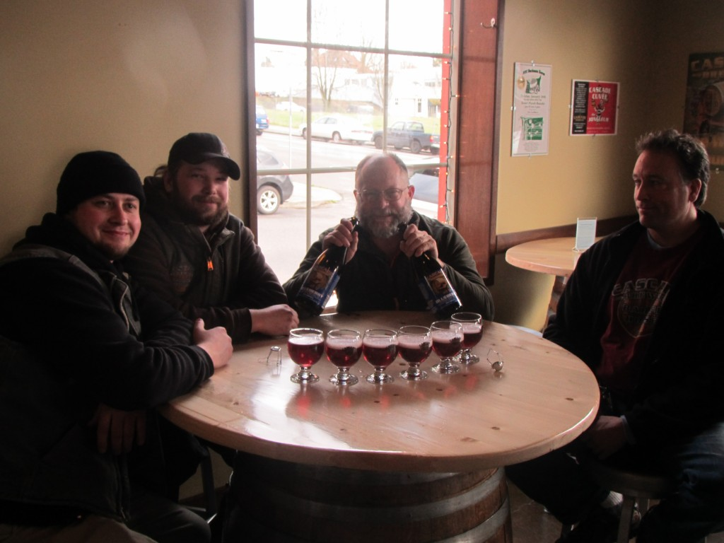 Cascade brew crew (L to R) Chris Baggenstos, Beck Jensen, Ron Gansberg, Preston Weesner