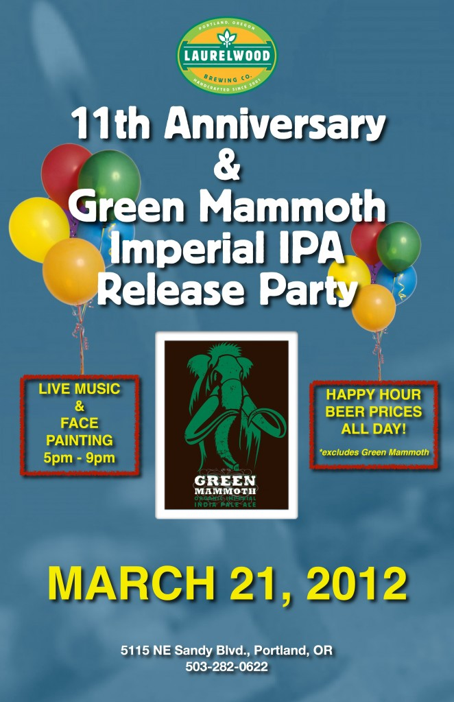 Laurelwood 11th Anniversary Party and Green Mammoth Release Party