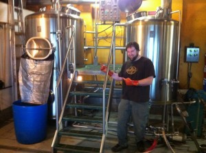Powered By Yeast's Tim Ensign brewing Powered By Hops IPA at Fort George Brewery