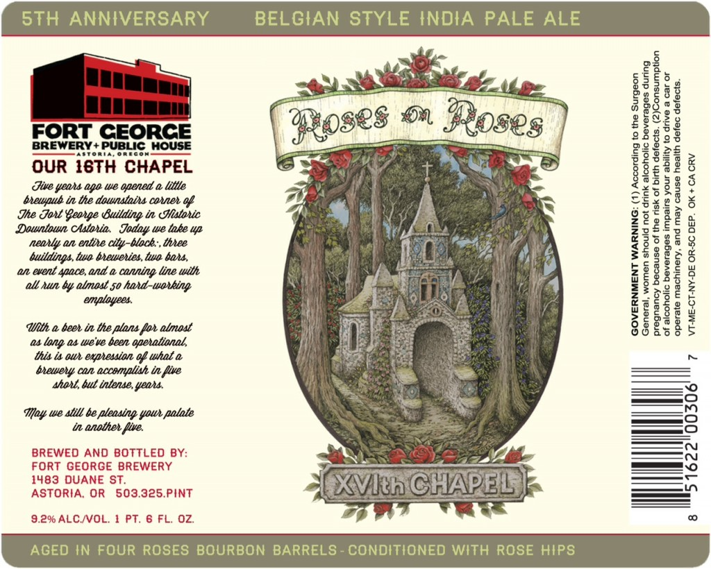 Fort George XVI Chapel Roses on Roses anniversary ale