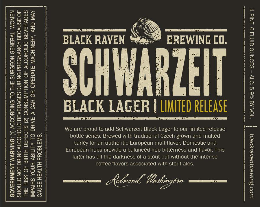 Black Raven Schwarzeit Black Lager