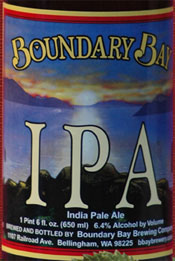 Boundary Bay IPA (photo by Brewmance NW)