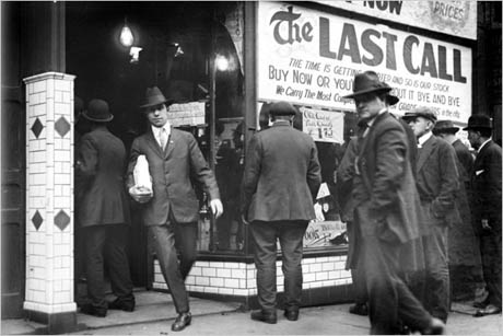 Detroit, the day before Prohibition. Photo from the Walter P. Reuther Library, Wayne State University, via the New York Times.