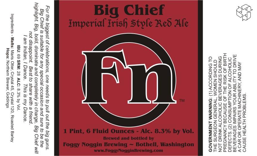 Foggy Noggin Big Chief Imperial Irish Style Red Ale