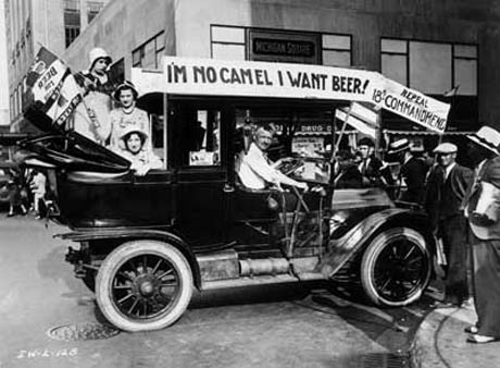 I'm no camel, I want beer! Prohibition protesters. Photo via Getty Images.