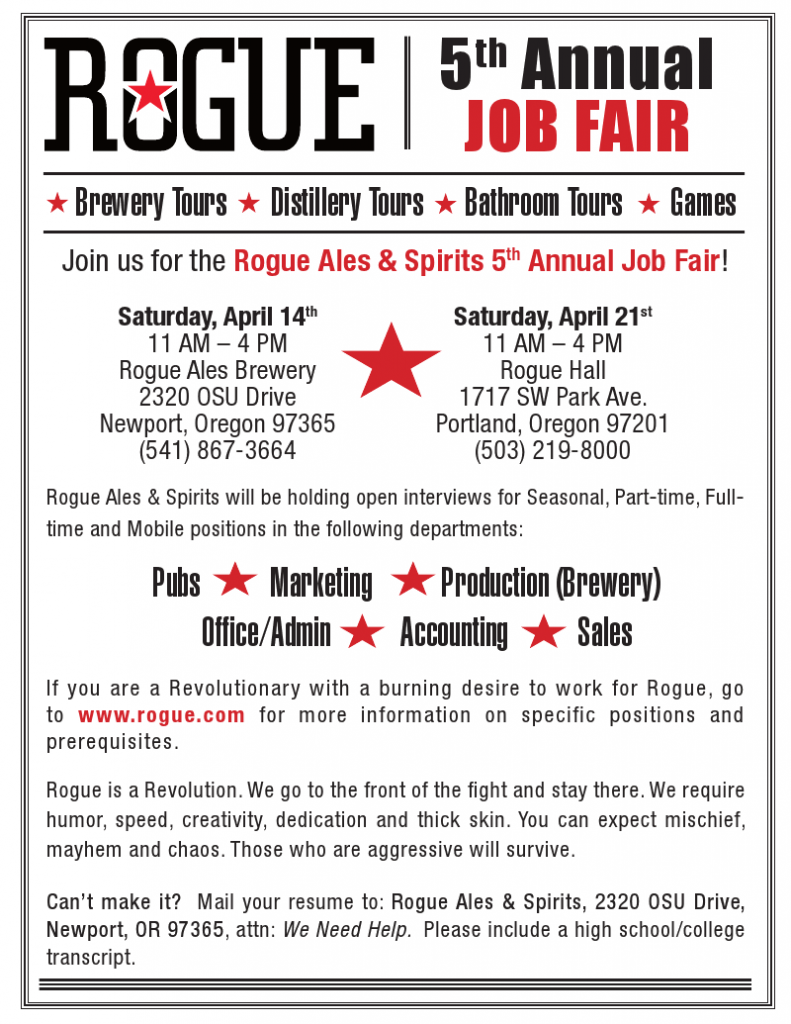 Rogue Job Fair