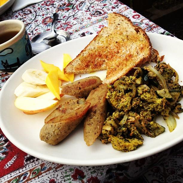 Tofu Scramble Breakfast at Mint Tea