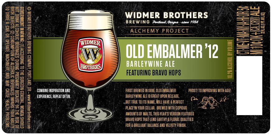 Widmer Old Embalmer '12 Barleywine Ale featuring Bravo hops