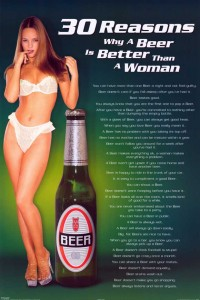 "Sexism alert: ""30 reasons why a beer is better than a woman"""