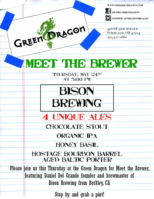 Bison Meet the Brewer @ The Green Dragon