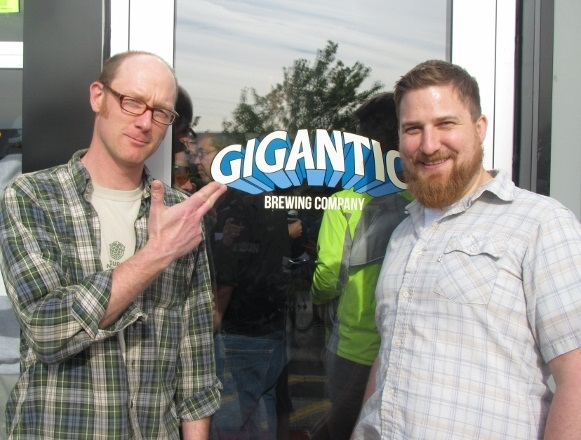Gigantic Brewing founding brewers Van Havig (left) and Ben Love