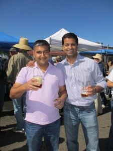 Shailly Bist (left) and Avanish Vellanki of Independence Brewing Co.