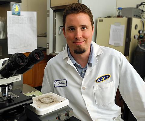 Full Sail Brewing lead lab technician Joshua Allman