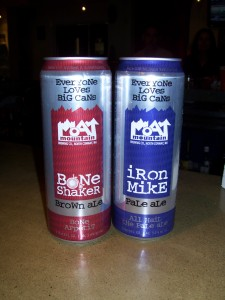 Moat Mountain Bone Shaker and Iron Mike in 24-oz cans
