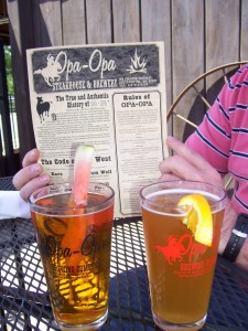 Fruited beers: Opa-Opa Brewery's Watermelon Ale and Belgian White