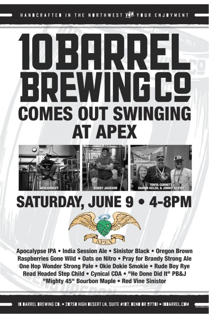 APEX Tap Takeover featuring 10 Barrel Brewing Co.