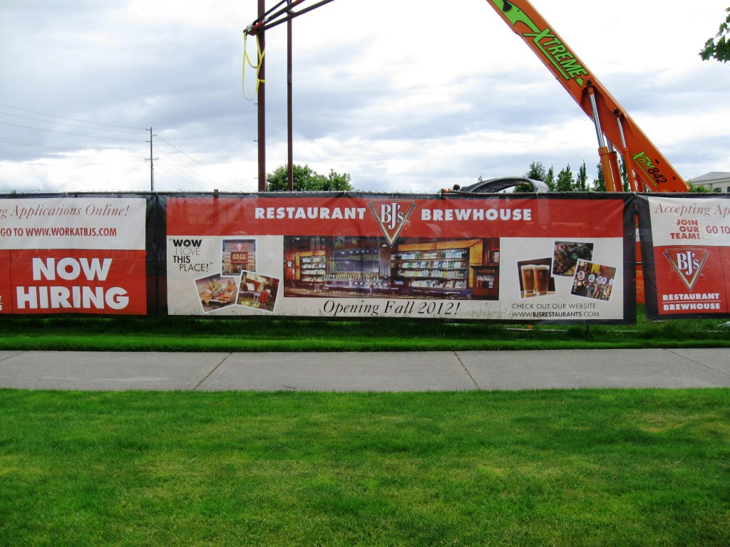 Site of new BJ's Brewhouse in Hillsboro, Oregon