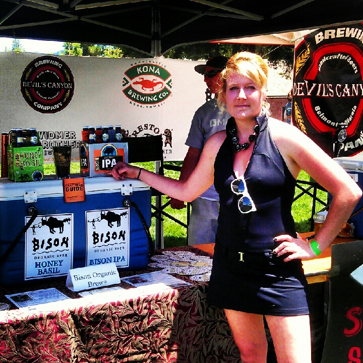 Bison Brewing's Director of Awesomeness Ashley works the Santa Rosa Brewfest on Saturday June 2, 2012
