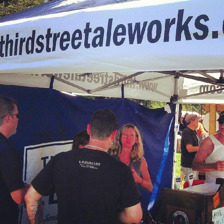 Third Street Aleworks tent at Santa Rosa Brewfest 2012