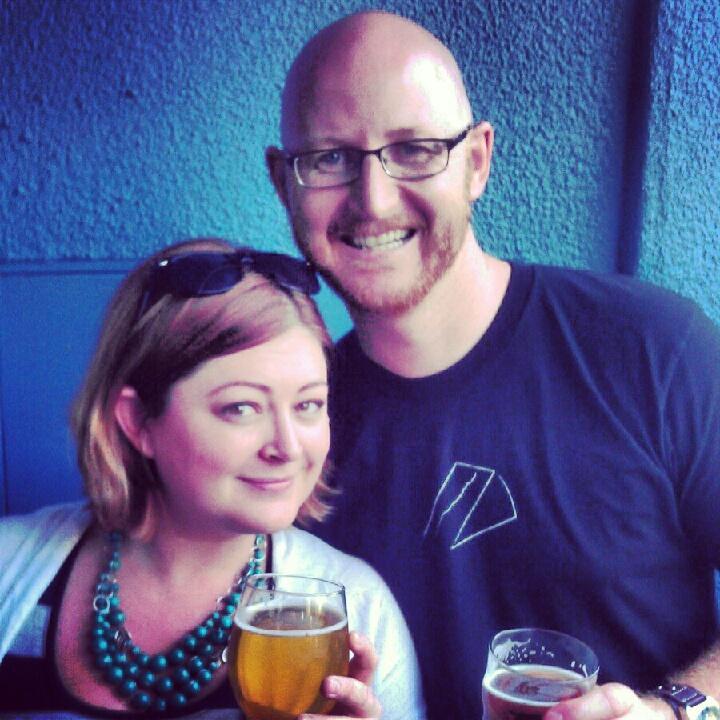 Shana and Jeff at Russian River Brewing