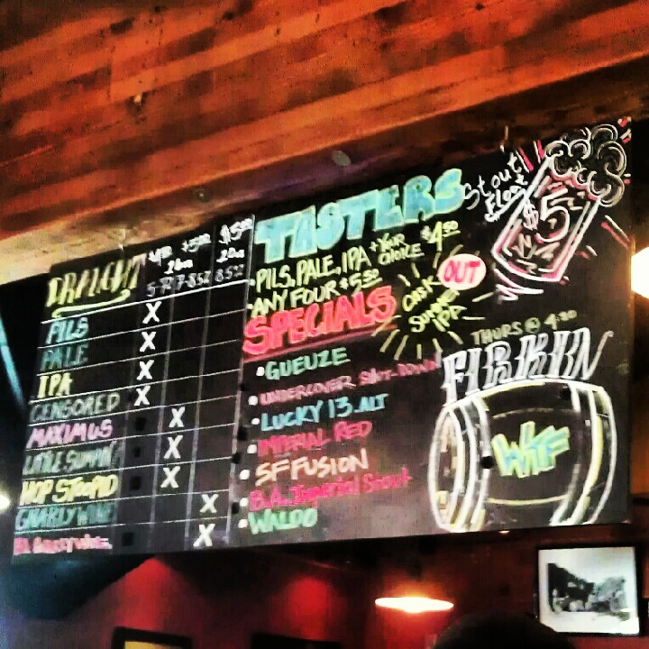 Tap board at Lagunitas Brewing