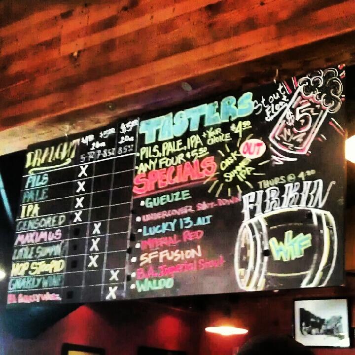 Tap board at Lagunitas Brewing