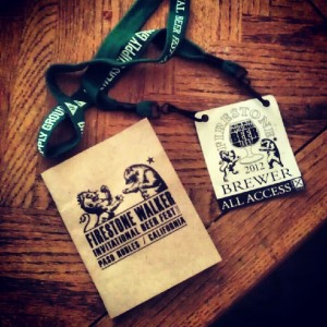 Firestone Walker Invitiational Beer Fest beer guide and access badge