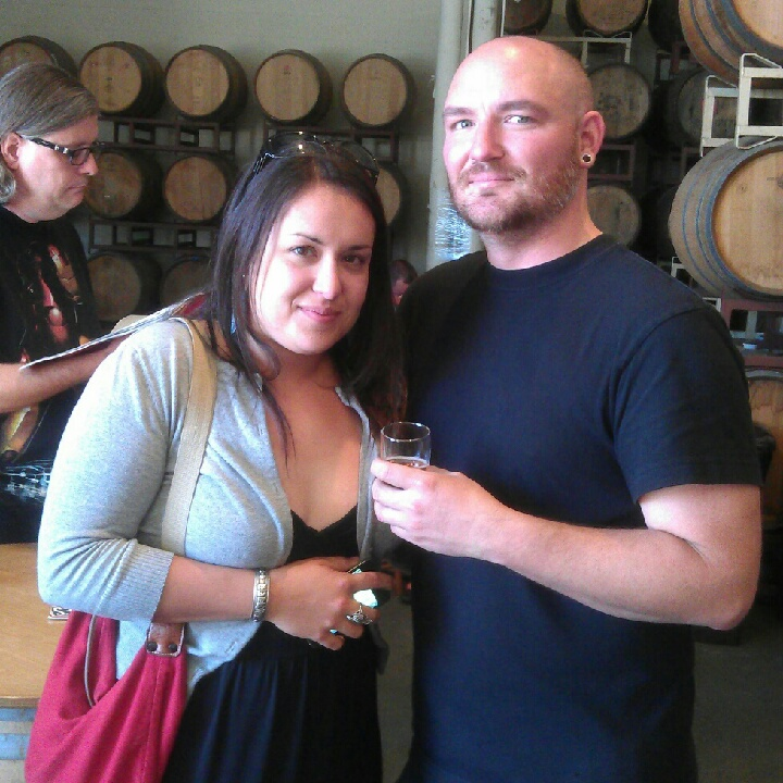 Drake's brewers Alex Nowell (left) and Jesse Houck at Drake's Barrel House 1 Year Anniversary