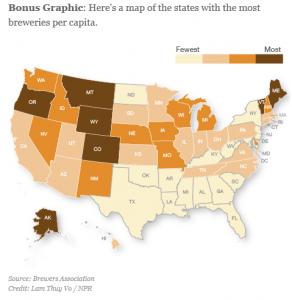 Most Beer Per Capita (NPR)