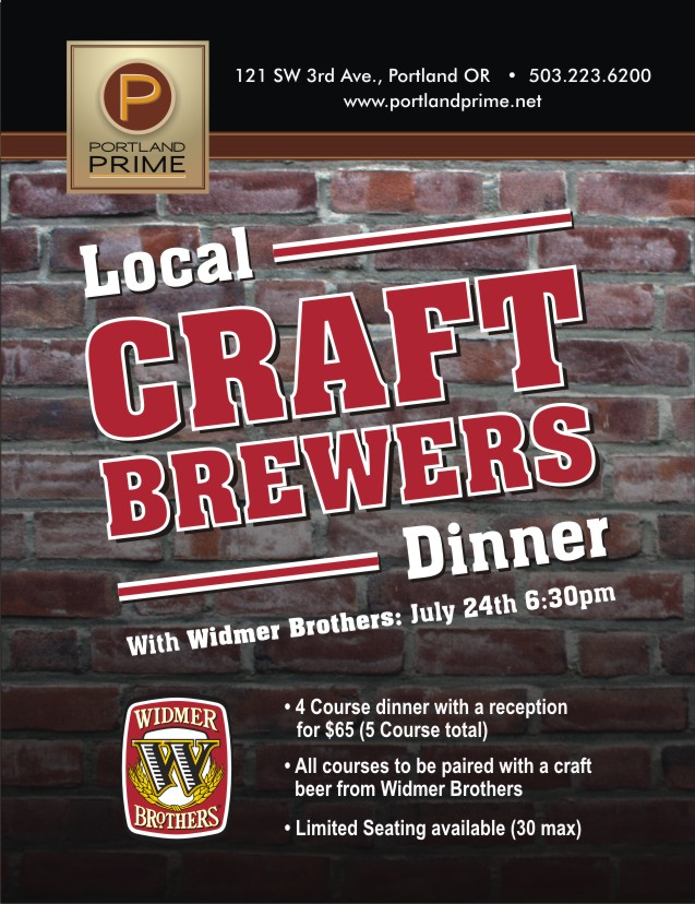 Widmer Brothers Local Craft Brewers Dinner