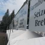 beer signage at the 2012 North American Organic Brewers Fest (NAOBF)