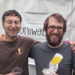 Upright Brewing's Alex Ganum (left) with Angelo at NAOBF '12