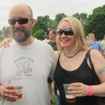 NoPo Brewers Trevor Thurston and Heather Egizio at 2012 NAOBF