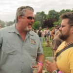 Eel River founder Ted Vivatson (left) and Hopworks Urban Brewery's Jaime Rodriguez at 2012 North American Brewers Fest (NAOBF)