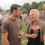 Upright Brewer/Founder Alex Ganum and Bison's Ashley Routson at 2012 NAOBF