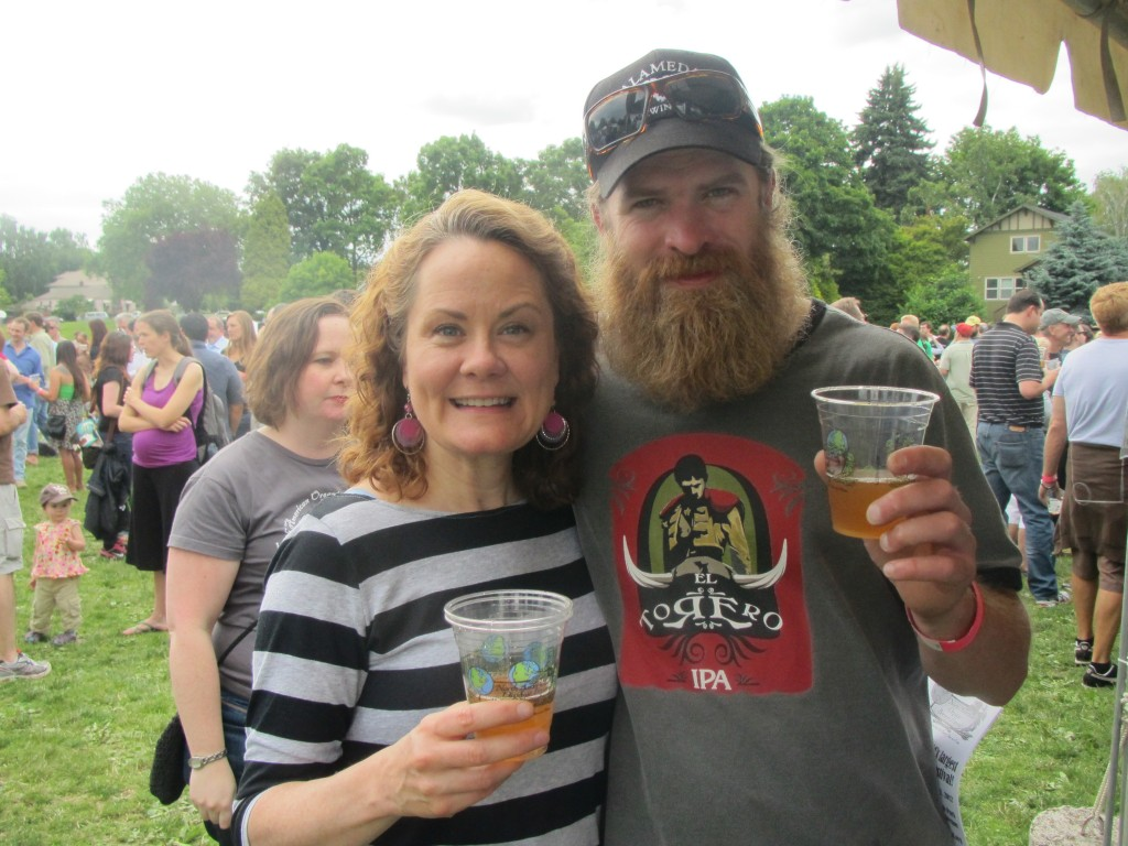 Pink Boots Society's Teri Fahrendorf and Alamda Brewer Carston Haney at 2012 NAOBF