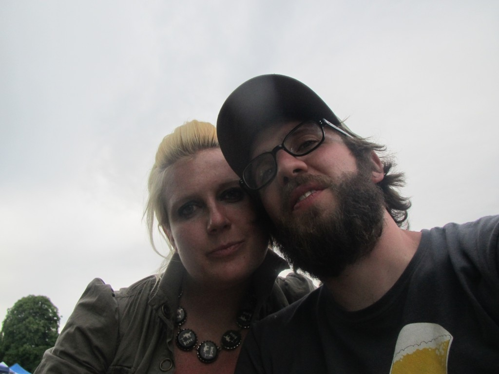 Ashley and Angelo at the 2012 North American Organic Brewers Fest (NAOBF)