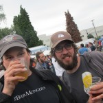 Sean Campbell of the BeerMongers with Angelo at 2012 NAOBF