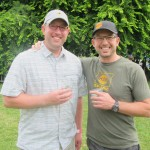 Brewpublic's DJ Paul with Hopworks Urban Brewery's Christian Ettinger at the 2012 NAOBF