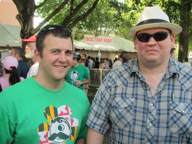 John Dugan (left) and James Neumeister of Harvester Brewing will be pouring a rare gluten-free draught beer at Belmont Station's Fringe Fest