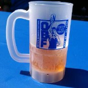 25th Annual Oregon Brewers Festival mug and beer