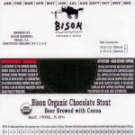 Bison Organic Chocolate Stout (necker)