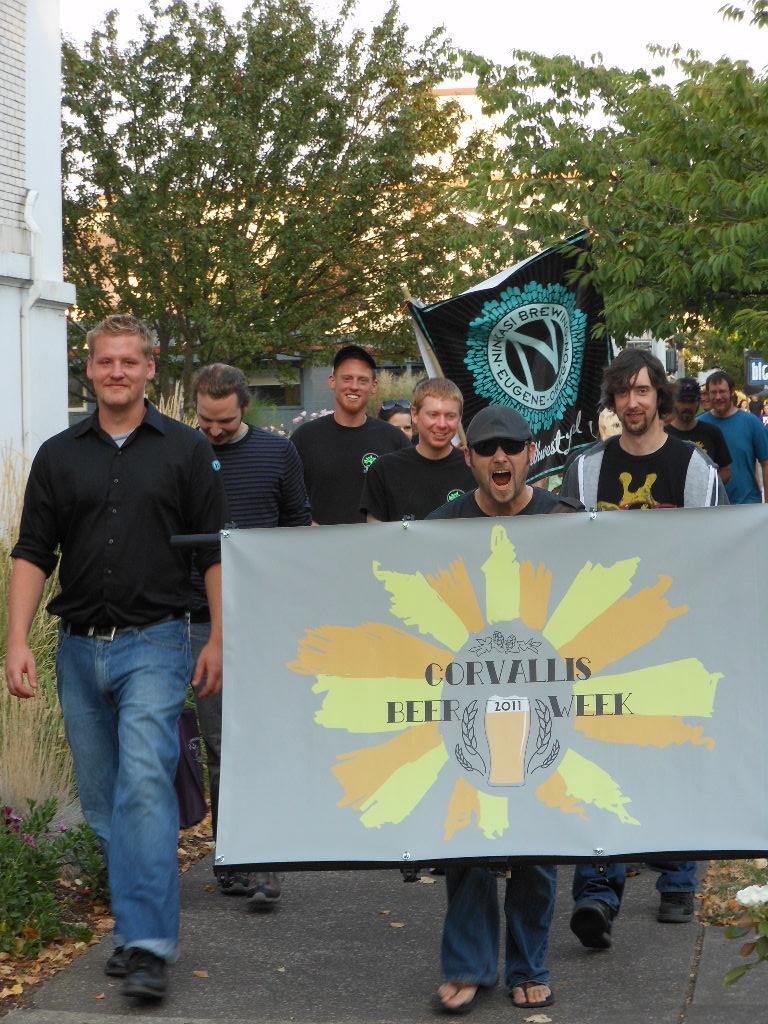 Corvallis Beer Week parade 2011