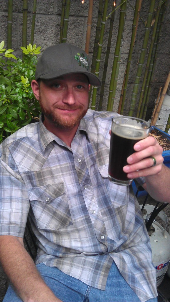 Elysian Dave Chappell with a birthday brew at the EastBurn